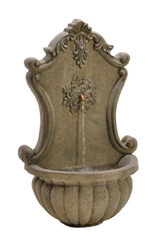 BirdRock Garden Stonecast Wall Water Fountain | Aged Granite | Includes Water (Wall Fountain Pumps)
