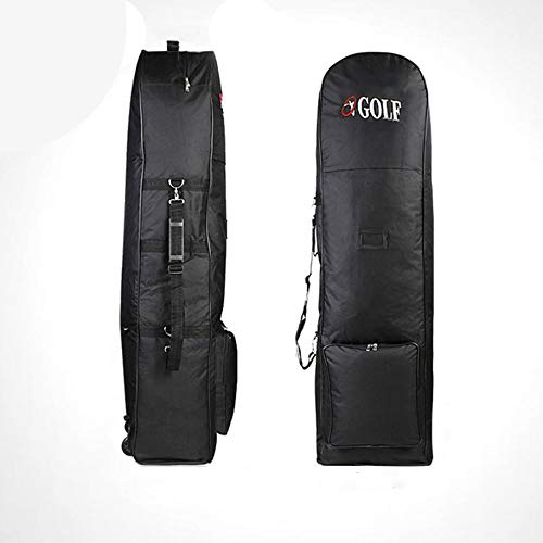 B-pretty Portable Padded Golf Bag Durable Travel Cover Case with Wheels Nylon Construction Carrying Coverall Sporting Equipment