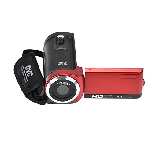 Startview HD 1080P 16MP 16X Digital Zoom Video Camcorder Camera With 2.7 Inch LCD (Red) Camera Dvr A/v Recorder