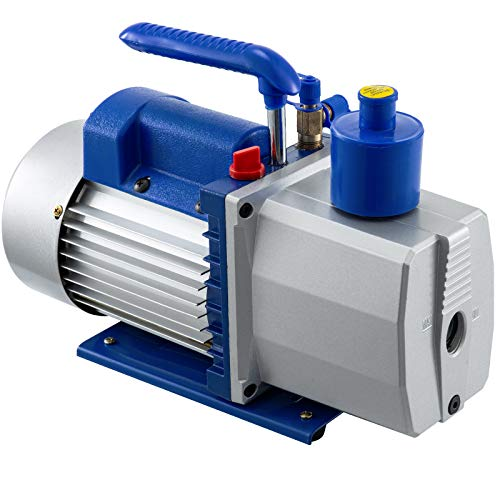 Bestauto 6CFM 2 Stage Refrigerant Vacuum Pump 110V/60Hz Refrigeration Air Condition 1/2 HP HVAC  (6CFM1/2HP)