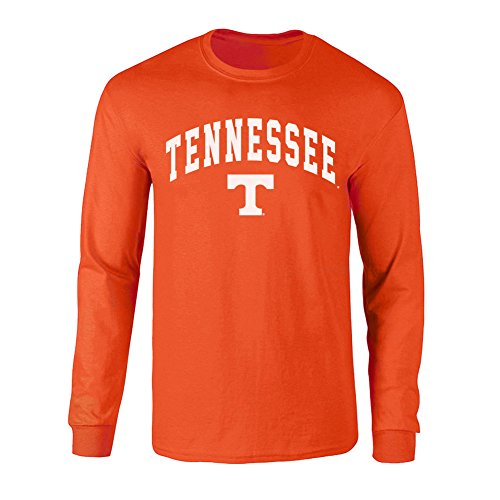 Tennessee Long Sleeve Volunteers (Elite Fan Shop NCAA Men's Tennessee Volunteers Long Sleeve Shirt Team Color Arch Tennessee Volunteers Orange Large)
