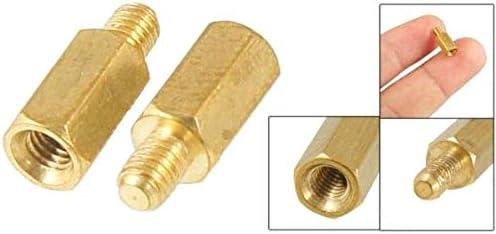 PRINDIY 50 st/ücke Messingschraube Sechskant Messing PCB Abstandshalter M3 Gewinde M/ännlich zu Weiblich 8mm