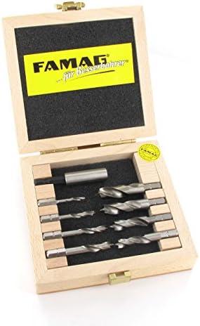FAMAG 1596.805 Spiral Drill Bits Short HSS-G in Blister Pack of 5, Satz 5-teilig. Ø 3, 4,5,6 und 8mm