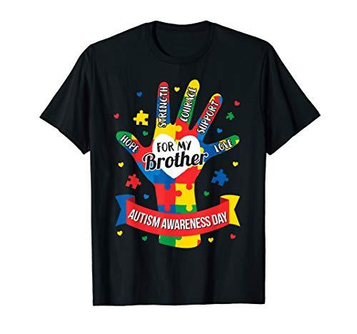 Autism Awareness Shirt Boy Kids Brother Puzzle Gift Tee