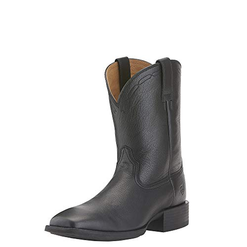 Wild West Boot Store (Ariat Men's Heritage Roper Western Cowboy Boot, Black Deer Tan, 9.5 2E)