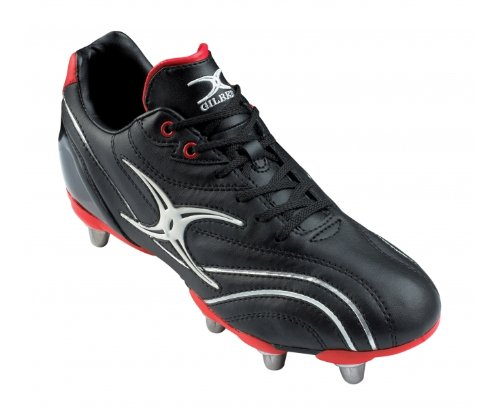 Gilbert Mens Sidestep Boot Zenon Lo Ht 8 Stall Rugby, Nero / Rosso, Us15.5