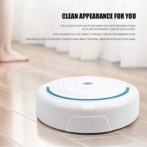 LLJEkieee Full Automatic Mini Vacuuming Robot Smart electrostatic Cleaning,Automatic sensingHousehold Appliances Charging Sweeper (White) from LLJEkieee