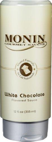 Monin Gourmet White Chocolate Sauce, 12 oz Squeeze Bottle