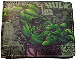 Marvel Comics The Avengers The Incredible Hulk Jumping Angry Bi Fold Wallet with Gift Box