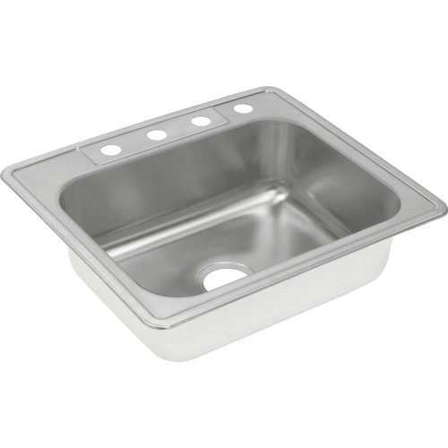 Elkay DXR25222 18 Gauge Stainless Steel Single Bowl Top Moun