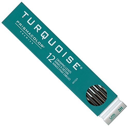 2 Leads Turquoise Mm (TURQUOISE DRAFT LEAD (3H) Prismacolor Tube of 12-each)