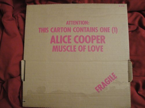 Alice Cooper Muscle of Love; Cardboard Box Cover, Drunken Sailor Sleeve, 1973 Warner Bros. Burbank Palm Tree Label BS-2748 Vinyl Lp Record Album Ex
