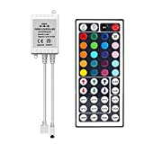 SUPERNIGHT IR Remote Controller 44 Keys Mini Wireless Dimmer Control for 5050 3528 RGB LED Light Strip