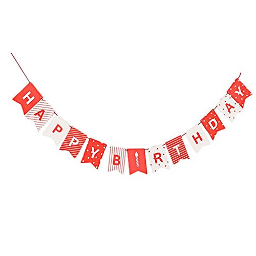 Happy Birthday Banner Chic Glitter Gold Party Decorations Versatile Beautiful Bunting Flag Garland as pic]()