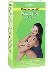 ANDREA Wax Strips for The Body, 20 Count