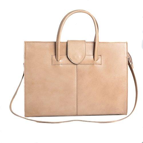 Made Femme d'affaires Cartel Handbag cuir Italy in 40x30x10 Boue en documents Porte cm italien X0688H