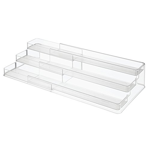 Multi Level Cabinet - InterDesign 64140 Linus Expandable Multi-Level Spice Rack, Kitchen Cabinet Organizer - Clear