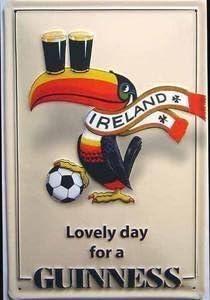 De tucán con Guinness de Irlanda ventilador acero con texto en ...