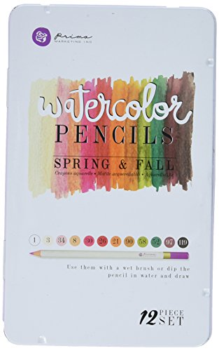T-76721 Spring & Fall Mixed Media Watercolor Pencils (12 Pack) (Fall Watercolor)