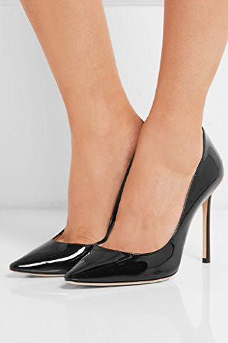 Black High on Chaussures Slip Kolnoo Femmes Heel Parti Cuir verni Black 100mm wBWAavq