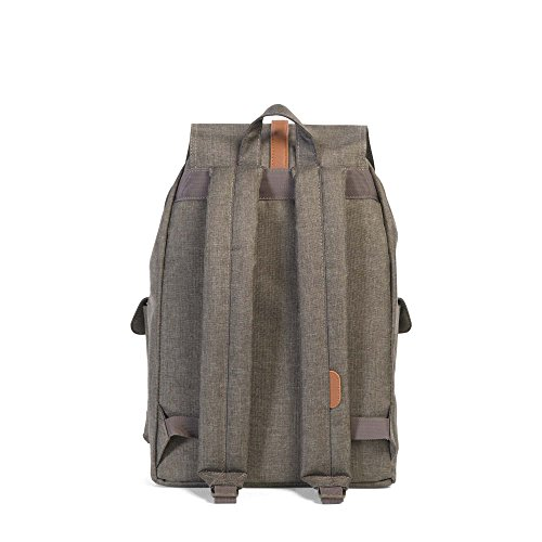 Herschel Canteen Small Peacoat Dawson Leather X Synthetic Crosshatch Tan Synthetic Tan Leather RRFq1w