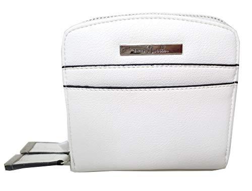 Simply Noelle Hamptons Vegan Faux Leather Ladies RFID Double Side Convenience Wallet White