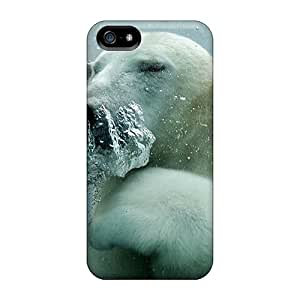 Anti-scratch And Shatterproof Polar Bear Phone Case For Iphone 5/5s/ High Quality Tpu Case