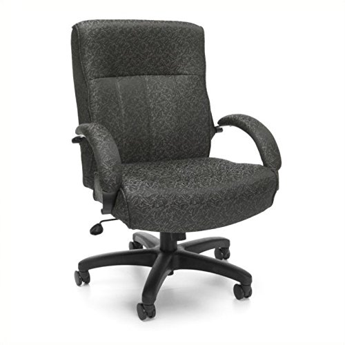 OFM Big and Tall Fabric Executive Chair – Mid-Back Conference and Office Chair, Gray Carbon (711-301) For Sale