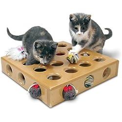 Smartcat 3833 Peek a Prize Cat Toy Includes Free Bonus Replacement Toys