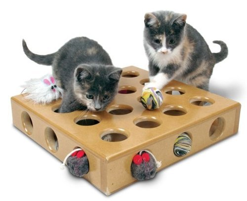 Peek A Prize Cat Toy (Smartcat 3833 Peek a Prize Cat Toy Includes Free Bonus Replacement Toys)