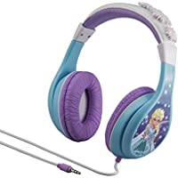 Disney Frozen FR140 Over-Ear 3.5mm Wired Parental Control Headphones (White/Purple/Blue)