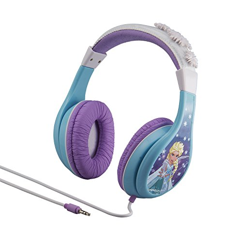 Frozen Headphones for Kids with Built in Volume Limiting Feature for Kid Friendly Safe Listening (Frozen Elsa Head)
