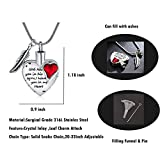 Red Crystal Heart Cremation Jewelry Urn Necklace