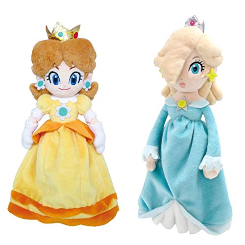 Little Buddy Set of 2 Super Mario Bros. Plushes - 1419 Daisy & 1596 Princess Rosalina -