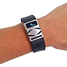 Premium Unisex Stainless Steel Fitbit Charge/Charge HR Slide on Accessory - The GEO Metal Cover to Protect and Cover Your Fitness Activity Tracker