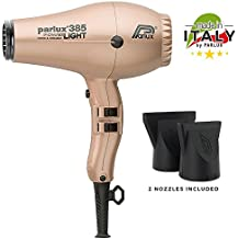 Parlux 385 Power Light Ceramic and Ionic Eco-friendly Professional Hair Dryer (Light Gold)