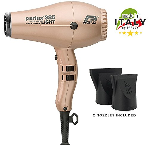 Parlux 385 Power Light Ceramic and Ionic Eco-friendly Professional Hair Dryer (Light Gold) by Parlux