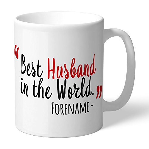 Manchester United Official Personalized FC Best Husband In The World Mug - FREE PERSONALISATION by Manchester United