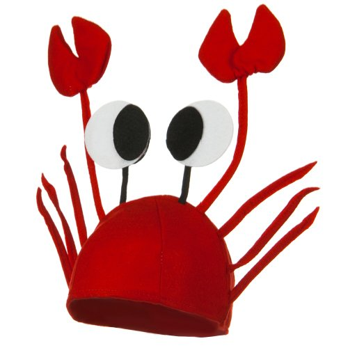 [Crab Hat - Red W40S18A] (Crab Costumes)