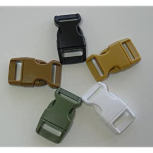 """5/8"""" Contoured Side Release Buckles for Paracord Bracelets Multiple Color and Quantity"""