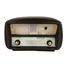 Antique Old-fashioned Resin Brown Vintage Radio Model Home Decorative Display Ornament Bedroom Decor Christmas Birthday Festival Gifts (Small-19825)