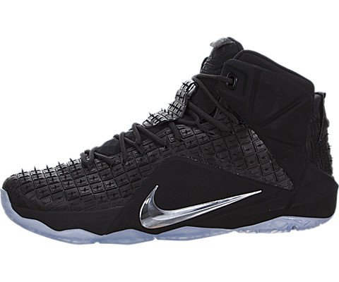 the best attitude fbbee ae667 Galleon - Nike Lebron XII EXT RC QS Mens Hi Top Trainers 744286 Sneakers  Shoes (UK 7.5 US 8.5 EU 42, Black Chrome Black 001)
