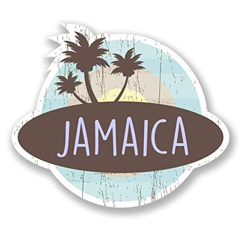 "Jamaica Caribbean Vinyl Sticker Decal Laptop Car Bumper Sticker Travel Luggage Car iPad Sign Fun 5"""