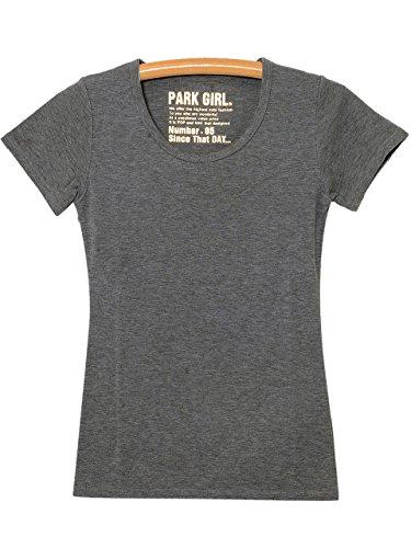 アシスタント予算比率(パークガール) PARK GIRL 無地クルーネック半袖カットソー レディース 大きいサイズ S/M/L/LL/3L 5459954600 (LL, チャコール)