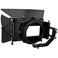 Red Star DV DSLR Pro II Matte Box Complete Bundle w/ 15mm Swing-away Arm, Top French Flags & Side Wings, Rubber Donut, Filter Stage and Filter Tray