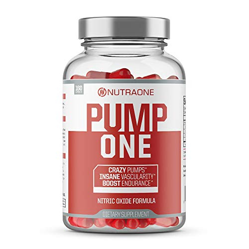 PumpOne Nitric Oxide Pump Supplement by NutraOne - with L-Citrulline and Beta-Alanine (160 Capsules)