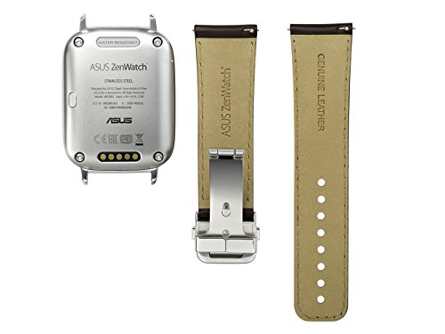 ASUS Smartwatch - Silver & Brown Leather