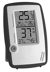 Termómetro con higrómetro Room Control TFA Dostmann 30.5015 (antracita)