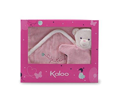 Kaloo Petite Rose Bath Towel with Wash Mitts Puppet Plush