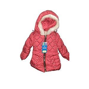 Fashiol Baby Little Girls Winter Fleece Coat Kids Faux Fur Jacket/Coat with Hood Thicken Outwear Warm Overcoat (Blue…